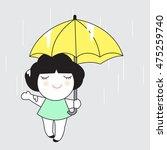 rain is my favorite weather... | Shutterstock .eps vector #475259740