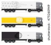 set of templates for transport. ... | Shutterstock .eps vector #475260949