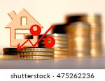 red percent sign on a...   Shutterstock . vector #475262236