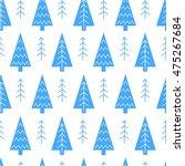 christmas tree vector seamless...   Shutterstock .eps vector #475267684