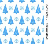 christmas tree and snowflake... | Shutterstock .eps vector #475267690