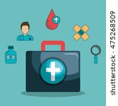 set medical healthcare icons... | Shutterstock .eps vector #475268509