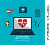 health care medical technology... | Shutterstock .eps vector #475268593