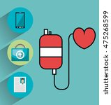 set medical healthcare icons... | Shutterstock .eps vector #475268599