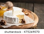 brie type of cheese. camembert... | Shutterstock . vector #475269070