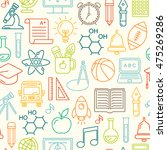 seamless school background.... | Shutterstock . vector #475269286