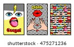 set of vector cards and banners ... | Shutterstock .eps vector #475271236
