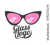 glasses logo  vector... | Shutterstock .eps vector #475273174