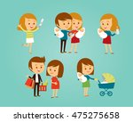 vector set of people with... | Shutterstock .eps vector #475275658