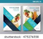 flyer leaflet brochure template ... | Shutterstock .eps vector #475276558