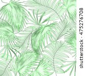 leaves of palm tree on white... | Shutterstock . vector #475276708