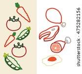 vegetables protein silhouette... | Shutterstock .eps vector #475282156