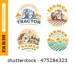 set illustration farm logo ... | Shutterstock .eps vector #475286323