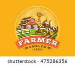 illustration farm logo  color... | Shutterstock .eps vector #475286356