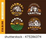Set Illustration Farm Logo On...