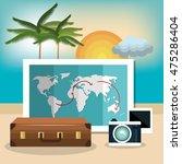 travel set equipment isolated... | Shutterstock .eps vector #475286404