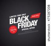 black friday sale banner | Shutterstock .eps vector #475287208