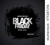 black friday sale banner | Shutterstock .eps vector #475287256