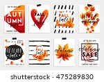 collection of autumn sale and... | Shutterstock .eps vector #475289830