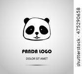 cute animal panda logo design...