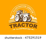 tractor logo illustration on... | Shutterstock .eps vector #475291519