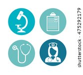 set medical care icons vector... | Shutterstock .eps vector #475292179