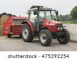 Red Tractor With Red Cattle...