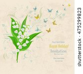 lovely bouquet of small spring...   Shutterstock .eps vector #475299823