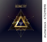 sacred geometry forms on space... | Shutterstock .eps vector #475299898