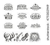set of typographic compositions ... | Shutterstock .eps vector #475302949