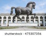 Leonardo da Vinci Horse statue in Milan, Italy. The world