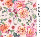 classical vintage floral... | Shutterstock . vector #475309210