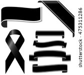 collection of black mourning... | Shutterstock .eps vector #475311286