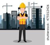 city under construction... | Shutterstock .eps vector #475312426