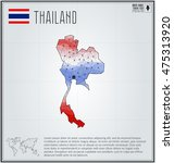 thailand map in geometric... | Shutterstock .eps vector #475313920