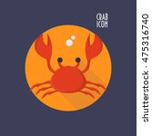 crab icon vector could be used... | Shutterstock .eps vector #475316740