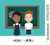 students in the class room... | Shutterstock .eps vector #475317370