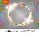 abstract luxury golden ring.... | Shutterstock .eps vector #475320148