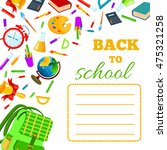 back to school cover for... | Shutterstock . vector #475321258