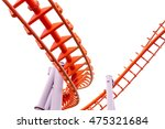 roller coaster isolated on... | Shutterstock . vector #475321684