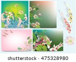 vector set lotus and koi for... | Shutterstock .eps vector #475328980
