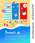 summer vacation design with... | Shutterstock .eps vector #475331194