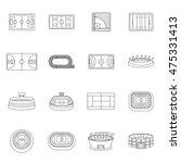 sport stadium icons set in line ... | Shutterstock .eps vector #475331413