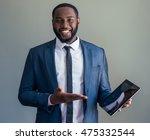 handsome afro american...   Shutterstock . vector #475332544