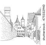 street in old city. cityscape   ... | Shutterstock .eps vector #475332940