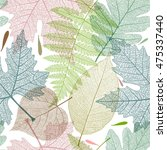 leaf colorful seamless pattern. ... | Shutterstock .eps vector #475337440