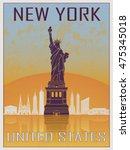 New York Vintage Poster 2 In...