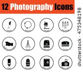 photography icon set.  thin...