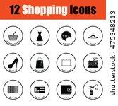 shopping icon set.  thin circle ...