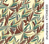 tropical abstract palm leaves... | Shutterstock .eps vector #475348300